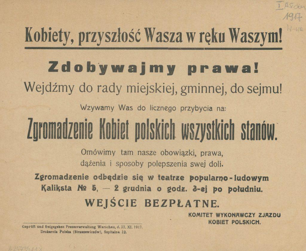 100-lecie praw wyborczych Polek!