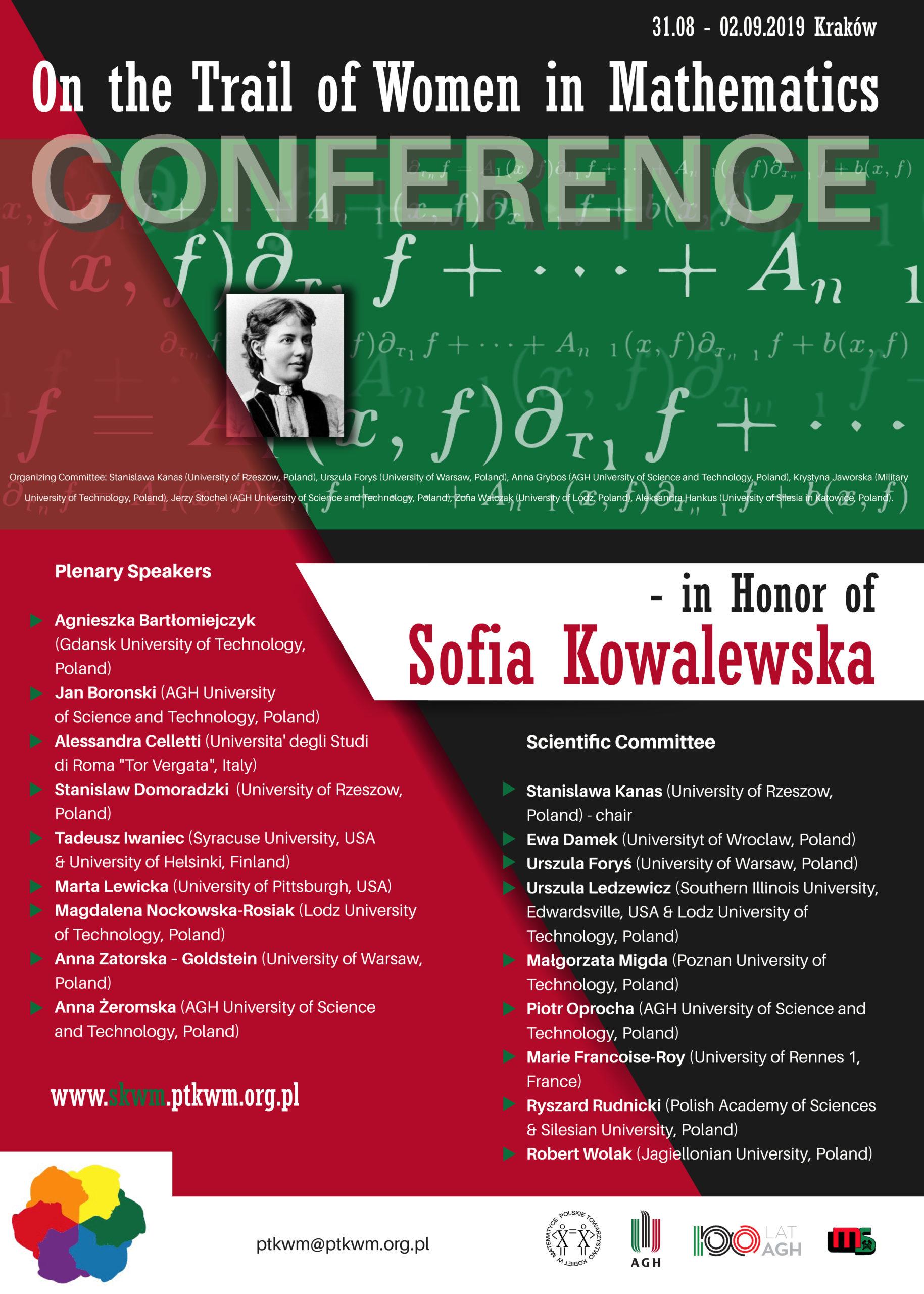 On the Trail of Women in Mathematics – in Honor of Sofia Kowalewska